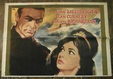 Sean Connery Gina Lollobrigida Woman Of Straw Sex Symbol Italian Movie Poster