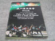 Clube De Corridas De Cavalos a Trote de Macau - Trotting Club Program