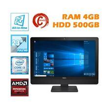 """AIO ALL IN ONE DELL OPTIPLEX 9030 23"""" I3 4130S RAM 4GB HDD 500GB AMD RADEON-"""