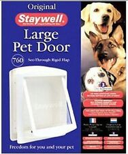 Staywell 760 blanc animal de compagnie grand chien porte - TRANSPARENT Chatière