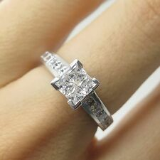925 Sterling Silver C Z Engagement Ring Size 6 1/4