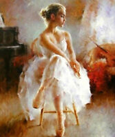 ZWPT176 100% hand painted Ballet dancing Girl oil painting home art on Canvas