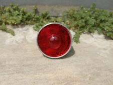 Round Red Silver Reflectors Aluminum For Vintage Bicycle