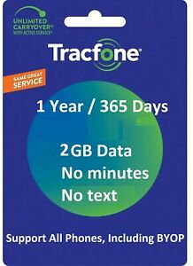 TracFone Service Extension 1 Year/365 Days + 2 GB Data For All Phones/Makers
