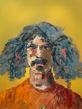 Original - Frank Zappa Pigtails Abstract Portrait Psychedelic Rock Art Painting
