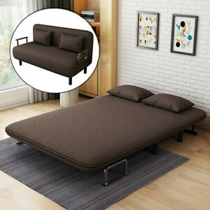 Convertible 47'' Double Sofa Bed,Folding Arm Chair Sleeper Leisure Recliner