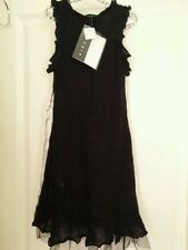 Black Dress Girl Party Wool SISLEY 4/5 yrs - 110cm (size: XS)  • High Quality