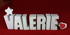 Beton, Steinguss Buchstaben 3D Deko Namen VALERIE als Geschenk verpackt!