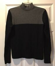 MURANO Mens Navy Blue & Gray Mock Neck Long Sleeves Sweater Size Small
