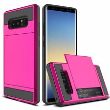 For Samsung Galaxy Note 8 Phone Case Cover Card Pocket Wallet Shockproof Hybrid
