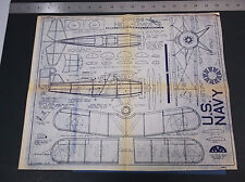VINTAGE U.S NAVY CURTISS HELL-DIVER SCALE AIRPLANE DRAWINGS PLANS  *VG-COND*