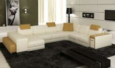 Interior Design Sofa Couch Big Pads Leather Corner Seat PH3004