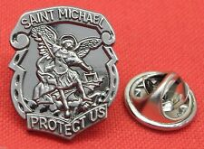 St Michael Lapel Pin Badge Saint Guardian Angel Archangel Miguel Brooch