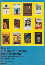 VITI IL ROMANZO ITALIANO DEL NOVECENTO DA FOGAZZARO AI NOSTRI GIORNI 1988 LIBRO