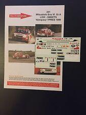 DECALS 1/43 MITSUBISHI LANCER LOIX RALLYE 24 HEURES YPRES 1999 RALLY BELGIQUE