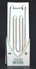 """NEW 26"""" STERLING SILVER CONTINUOUS CURB FLAT LINK CHAIN~# 63F by M.S.CO.,U.S.A."""