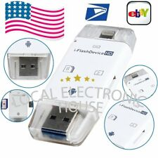 SD TF Card Reader USB Flash Drive For iPhone 7 6s 6 Plus 5 s For iPad 4 Air Mini