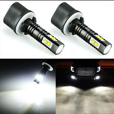 JDM ASTAR 2x 880 High Power 50W CREE 6000K White LED Projector Fog Lights Bulbs