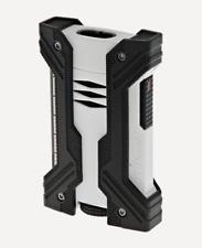 NEW ST Dupont Defi XXtreme Double Jet Torch Lighter - White & Black - 021603
