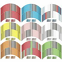 17inch Motorcycle Wheel Sticker Reflective Decals Rim Tape Strip For YAMAHA TMAX