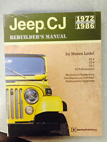 JEEP CJ REBUILDERS MANUAL 1972 - 1986 MOSES LUDEL 1ST EDITION PAPERBACK
