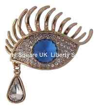 GOLD BLUE EYE SPILLA CON a forma di pera Teardrop / beautician / Ciglia # 654
