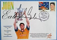 WALLABIES CAPTAIN JOHN EALES SIGNED FDC - DEFEATED ALL-BLACKS Sept' 2001