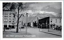 Ogden, Utah Ut 25th Street Scene looking East ca 1930s Postcard