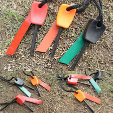 Survival Magnesium Flint And Steel Striker Fire Starter Lighter Stick Campin new