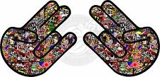 2x STICKER BOMB SHOCKER Funny Car,Window,Bumper DRIFT JDM Vinyl Decal Vw Japan