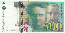 BILLET BANQUE 500 Frs pierre et marie CURIE 1994 SUP 294