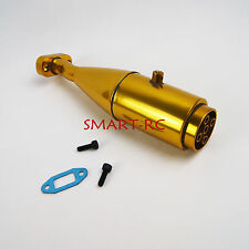 Rocket exhaust pipe for HPI Rovan 5B Baja Buggy 1/5 tuned Gold smart