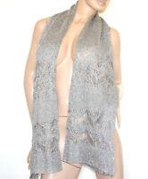 ÉTOLE MAXI BEIGE OR argent foulard femme châle fil percé de lurex echarpe G58