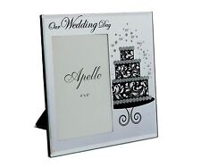 Wedding Gift 4x6 in (10x15cm) Vertical Glass Photo Frame Present