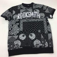 Rocksmith Clothing Bandana Crewneck Sweater Cut Off Mens Large
