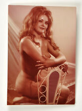 Vintage photo nude girl sitting on a chair Poland1950-60s