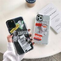 Luxury Art Letter Label Phone Case For iphone X 7 8 11 XS Transparent Soft Cases