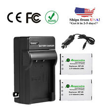 2 NP-20 Battery + Charger for Casio Exilim EX-S600 EX-Z70 EX-Z75 EX-Z77 EX-Z60