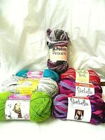 Lot of 7 Skiens Starbella, Yarn Bee Patons, Different Colors