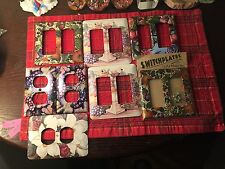 ART PLATES Handcrafted  Switchplate Cover Lot of 8 covers. Lot # 0175