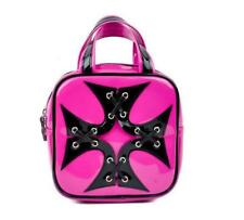 Addicted Black/Pink Iron Cross Handbag Purse