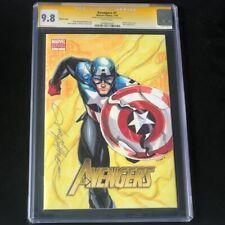 Avengers 1 2010 CGC 9.8 SS 💥 ORIGINAL SKETCH 💥 JON HUGHES Captain America Art