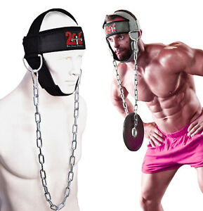 2Fit Head Harness Neck Exercise GYM Training Dipping Weight Lifting Chain Adjust
