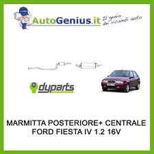 MARMITTA SILENZIATORE POSTERIORE + CENTRALE FORD FIESTA 1.2 16V DAL 1995 AL 2002