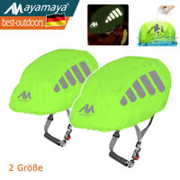 Ayamaya Unisex Helm Regenüberzug Fahrradhelm Wasserdicht Cover mit Reflektierend