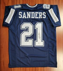 Deion Sanders Autographed Signed Jersey Dallas Cowboys Beckett