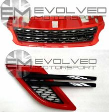 RANGE ROVER SPORT 2014 L494 RED/GLOSS BLACK GRILLE & SIDE VENT KIT EXCLUSIVE E54
