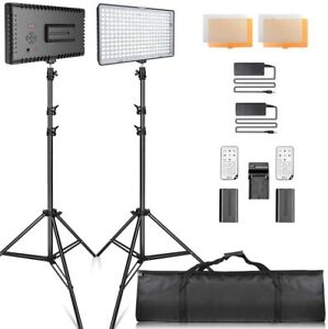 LED Video Lighting Kit with Stand LED camera lighting 240pcs 3200/5600K Beads