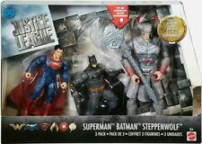DC Movie JUSTICE LEAGUE BATMAN STEPPENWOLF SUPERMAN 3-Pack Figures Toys