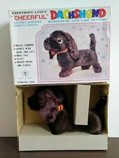 Battery Operated Cheerful Dachshund Mib Nos Vintage Toy 1960'S Japan Works Great